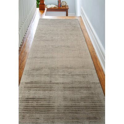 Alston Hand Woven Pewter Area Rug Rug Size: Runner 26 x 8