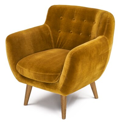 Martinique Tufted Armchair Upholstery: Mustard