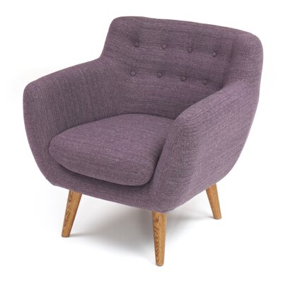 Martinique Tufted Armchair Upholstery: Purple