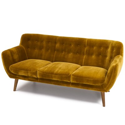 April Tufted Sofa Upholstery: Mustard