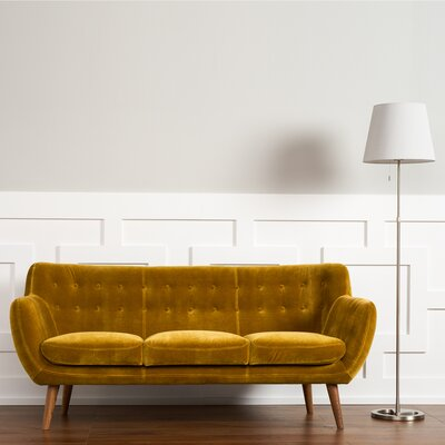 Martinique Tufted Sofa Upholstery: Mustard