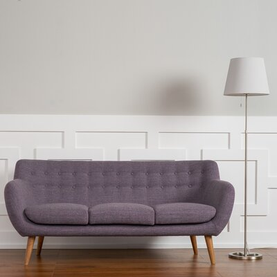 Martinique Tufted Sofa Upholstery: Purple
