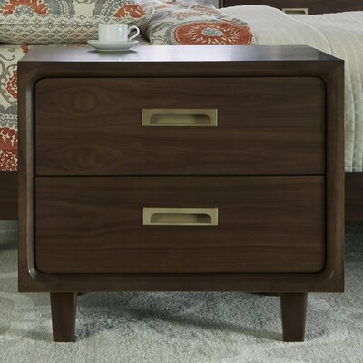 Arlo 2 Drawer Nightstand