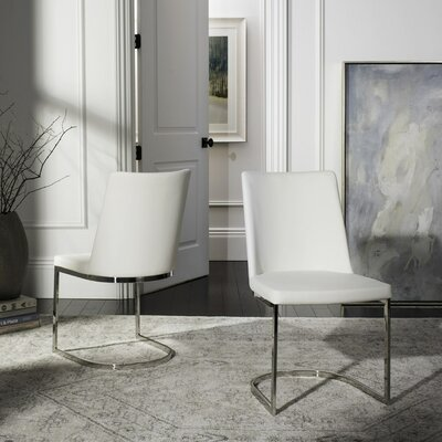 Farranacushog Side Chair Upholstery: PU+Sponge - White