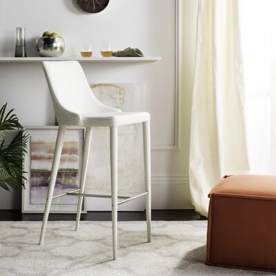 Sherwood 29.9 Bar Stool Upholstery: White