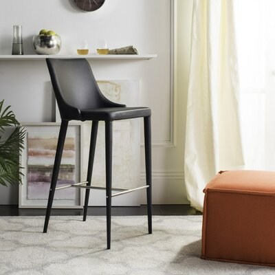 Sherwood 29.9 Bar Stool Upholstery: Black