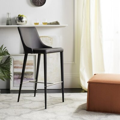 Sherwood 29.9 Bar Stool Upholstery: Brown