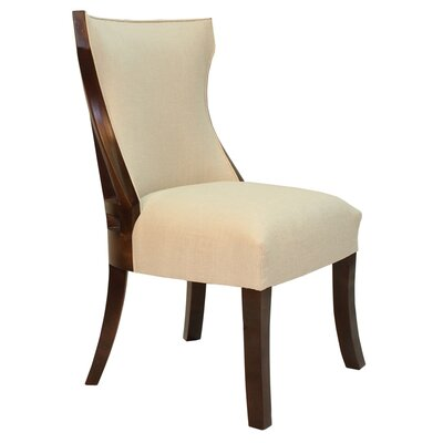 Isabelle Side Chair Body Fabric: Ireland Charcoal
