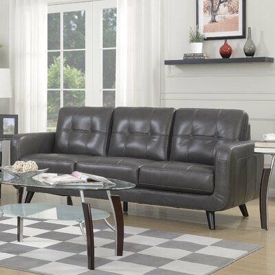 Basilica Sofa Color: Charcoal