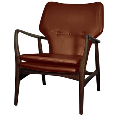 Rosanna Bonded Leather Armchair Color: Cognac