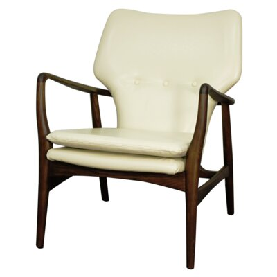 Rosanna Bonded Leather Armchair Color: Beige