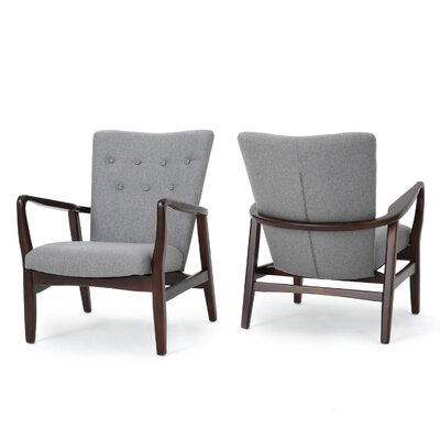 Raina Arm Chair Color: Gray