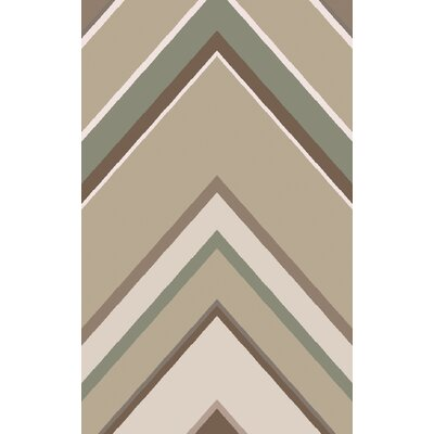 Zafiro Beige/Taupe Geometric Rug Rug Size: Rectangle 5 x 8