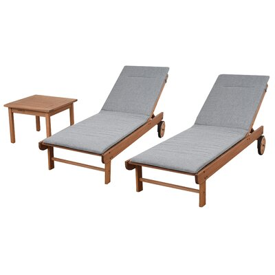Grey Cushion NewburyPatio 3 Piece Single Lounge Set