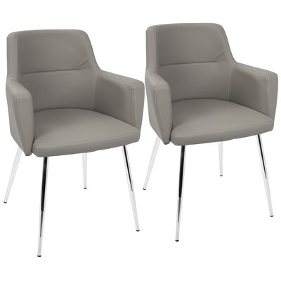 Alfie Upholstered Dining Chair Color: Gray