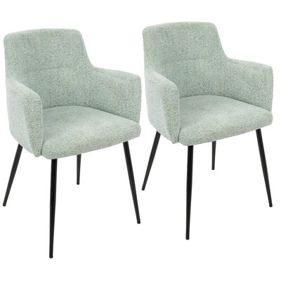 Alfie Upholstered Dining Chair Color: Light Green
