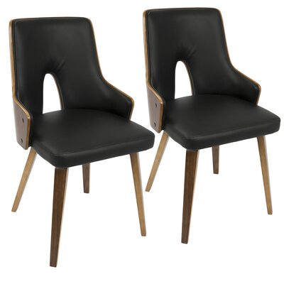 Buckhurst Side Chair Upholstery: Faux Leather - Black