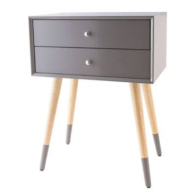 Francesca End Table Color: Cool Gray