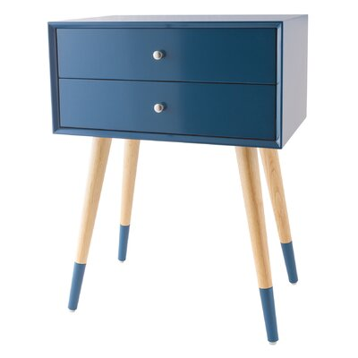 Francesca End Table Color: Navy Blue