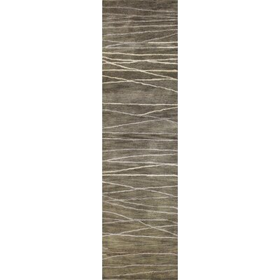 Primavera Hand-Tufted Taupe Area Rug Rug Size: Runner 26 x 8