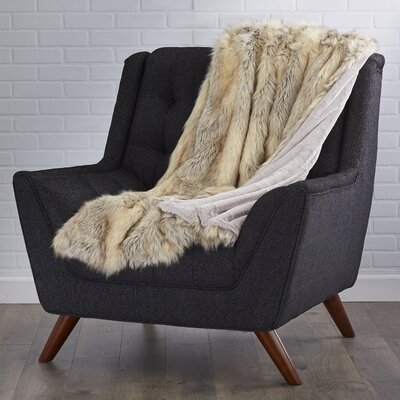 Abbottstown Faux Fur Lounge Throw Color: Kitt Fox, Size: 60 L x 58 W