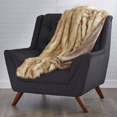 Abbottstown Faux Fur Lounge Throw Color: Platinum Frost Fox, Size: 60 L x 58 W