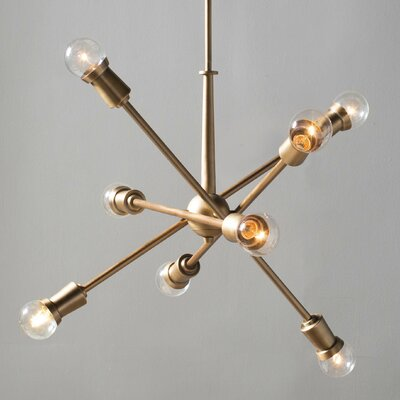 Furniture-Corrigan Studio Pembroke Pines 8 Light Sputnik Chandelier