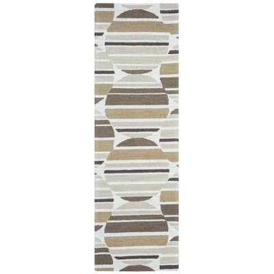 Lerone Hand-Tufted Beige Area Rug Rug Size: Rectangle 8 x 10