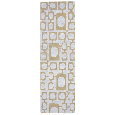 Lerone Hand-Tufted Beige/Gray Area Rug Rug Size: Rectangle 5 x 8