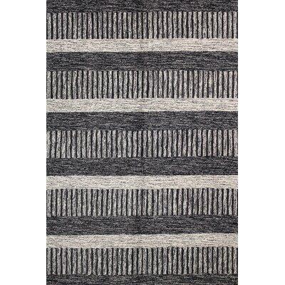 Aikenvale Black Rug Rug Size: 76 x 96