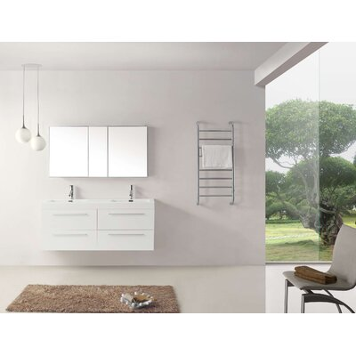 Frausto 54 Double Bathroom Vanity Set with White Top