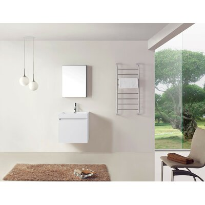 Frausto 24 Single Bathroom Vanity Set with White Top and Medicine Cabinet