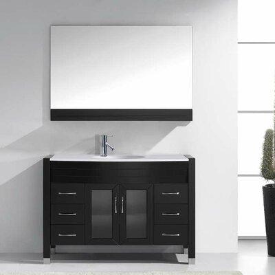 Frausto 47 Single Bathroom Vanity Set with Mirror Base Finish: Espresso