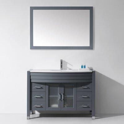 Frausto 47 Single Bathroom Vanity Set with Mirror Base Finish: Gray