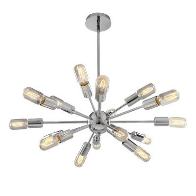 Almira 16-Light Sputnik Chandelier Finish: Chrome