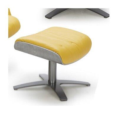 Dakota Leather Ottoman Upholstery: Mustard
