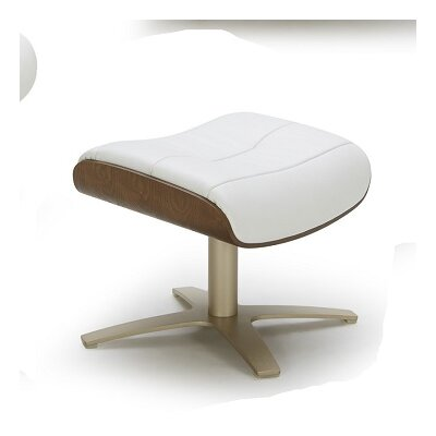 Dakota Leather Ottoman Upholstery: White
