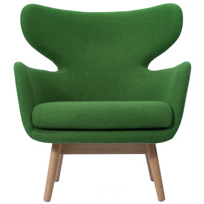 Aaden Barrel Chair Upholstery: Forest Green