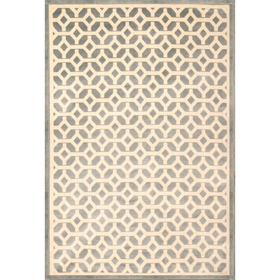 Becker Light Blue/Ivory Area Rug Rug Size: 53 x 76