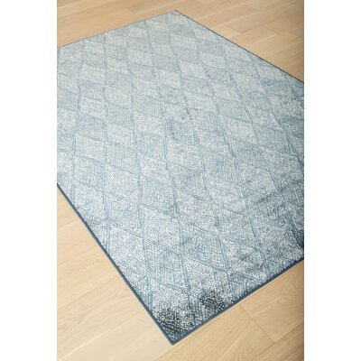Becker Blue/Gray Area Rug Rug Size: 53 x 76