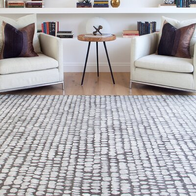 Becker Charcoal/Ivory Area Rug Rug Size: 710 x 112