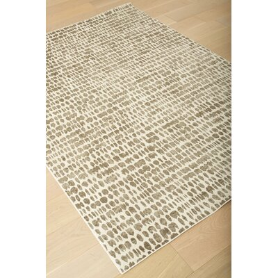 Becker Ivory/Silver Area Rug Rug Size: 53 x 76