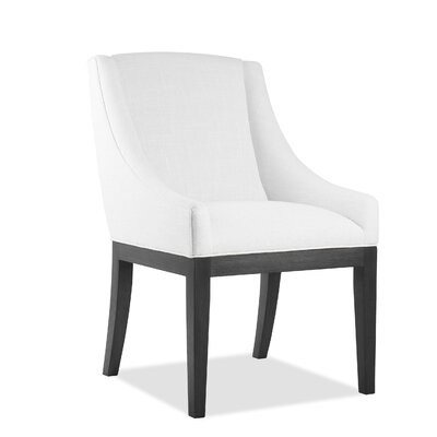 Moss Side Chair Upholstery: White, Finish: Gray