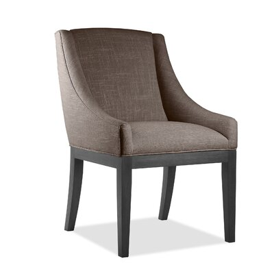 Moss Side Chair Upholstery: Brown, Finish: Gray
