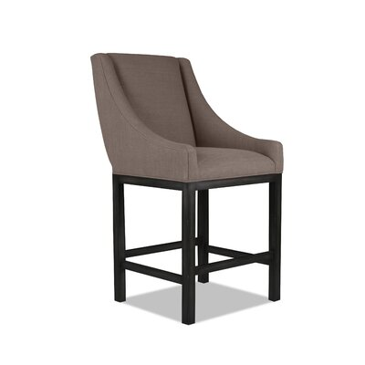 Moss 26 Bar Stool Finish: Dry Gray, Upholstery: Brown
