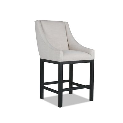 Moss 26 Bar Stool Finish: Dry Gray, Upholstery: Sand