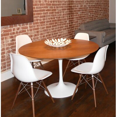 Larkson Round Dining Table Base Finish: White Gloss