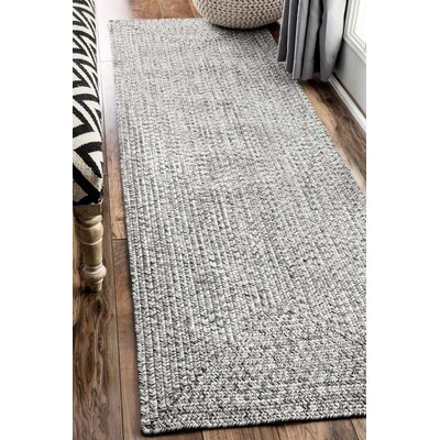 Canton Salt/Pepper Indoor/Outdoor Area Rug Rug Size: Runner 26 x 8