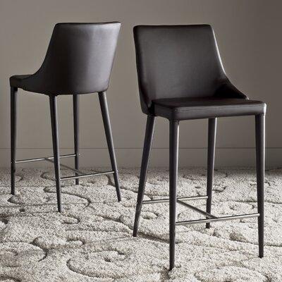 Lebron 26 Bar Stool Upholstery: Brown