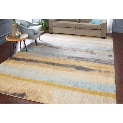 Evansville Golden Mustard Area Rug Rug Size: Rectangle 53 x 710